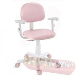 Cadeira giratória rosa bebê kids deccor digitador