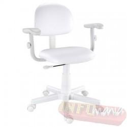 Cadeira giratória branca kids deccor digitador