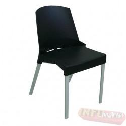 Cadeira Frisokar Shine preta sem braço