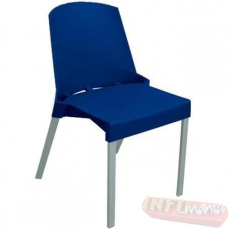 Cadeira Shine Frisokar azul sem braço