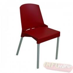 Cadeira Shine Frisokar vermelha sem braço
