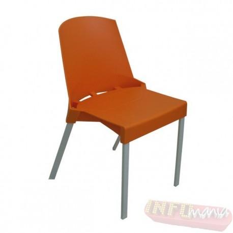 Cadeira Shine Frisokar laranja sem braço