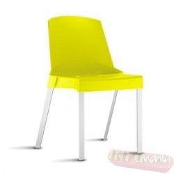 Cadeira Shine Frisokar amarela sem braço