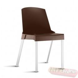 Cadeira Shine Frisokar Marrom sem braço