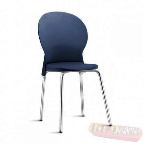Cadeira Luna Frisokar polipropileno azul