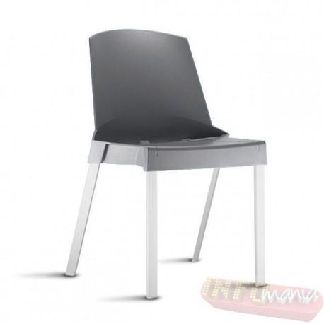 Cadeira Shine Frisokar cinza sem braço