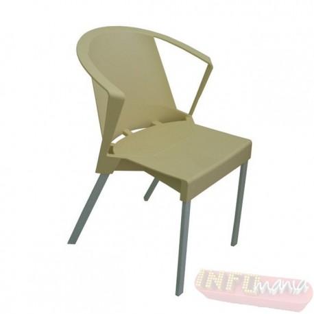 Cadeira Shine Frisokar areia com braço