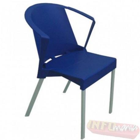 Cadeira Shine Frisokar azul com braço