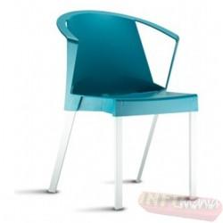 Cadeira Shine Frisokar azul max com braço