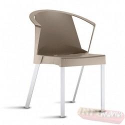 Cadeira Shine Frisokar bége com braço