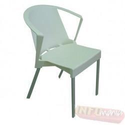 Cadeira Shine Frisokar branca com braço