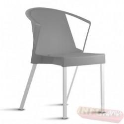 Cadeira Shine Frisokar cinza com braço