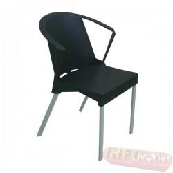 Cadeira Shine Frisokar preta com braço