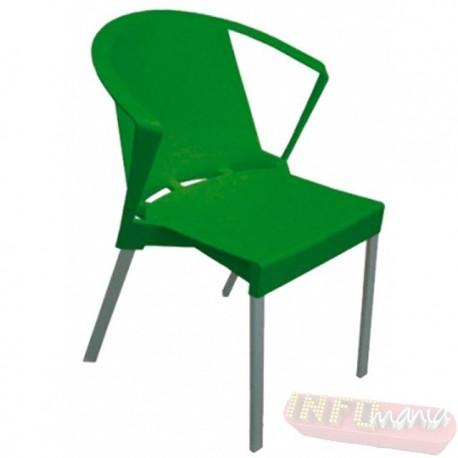 Cadeira Shine Frisokar verde com braço