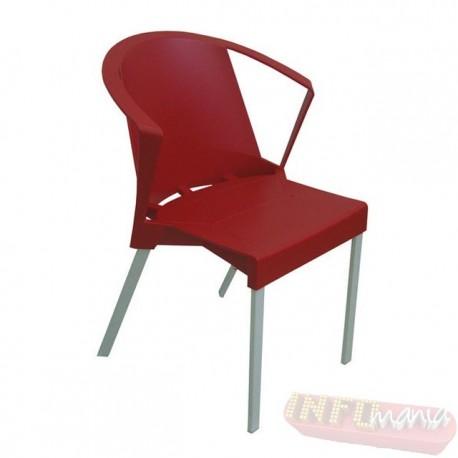 Cadeira Shine Frisokar vermelha com braço