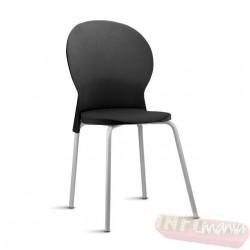 Cadeira Luna Frisokar polipropileno preto