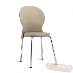 Cadeira Luna Frisokar polipropileno areia