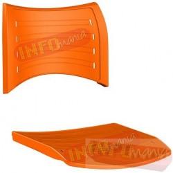 Conjunto assento e encosto iso polipropileno laranja