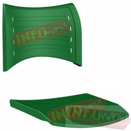 Conjunto assento e encosto iso polipropileno verde bandeira