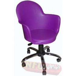 Cadeira Gogo púrpura giratória cromada