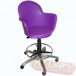 Cadeira Gogo púrpura caixa giratória com aro de apoio