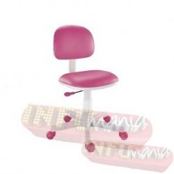 Cadeira giratória pink kids deccor