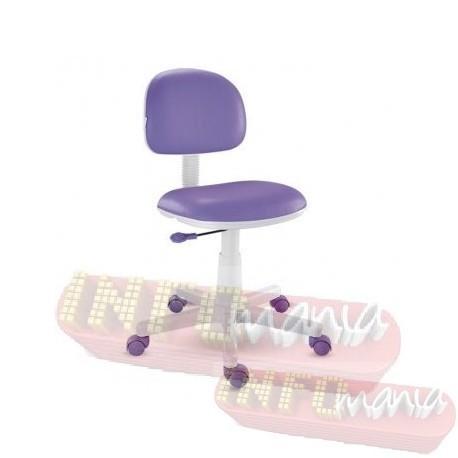 Cadeira giratória lilás kids deccor