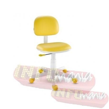 Cadeira giratória amarela kids deccor