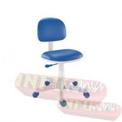 Cadeira giratória azul kids deccor