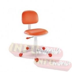 Cadeira giratória laranja kids deccor