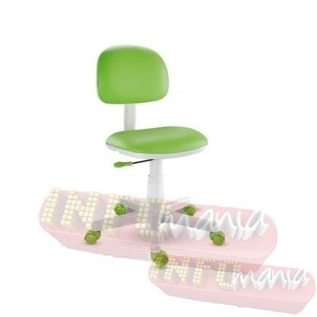 Cadeira giratória verde-limão kids deccor