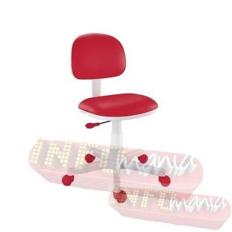 Cadeira giratória vermelho kids deccor