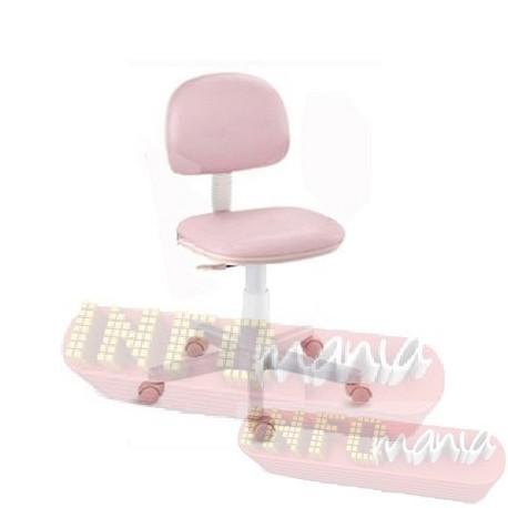 Cadeira giratória rosa bebê kids deccor