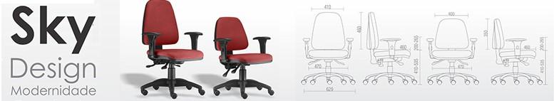 Cadeiras Sky Frisokar para escritórios